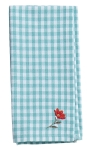 Floral Accent Gingham Check Design Cotton Table Napkin 20x20 from Kay Dee Designs