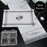 Farmers Market Rooster Embroidered Cotton Table Runner Cloth 13x72 from Kay Dee Designs