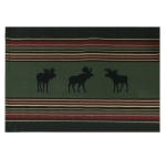 Woodland Moose Printed Woven Cotton Placemat 13x19 from Kay Dee Designs