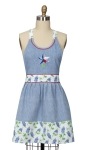 Texas Star Embroidered Cotton Hostess Apron 20x30.5 from Kay Dee Designs