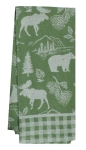 Pinecone Trails Bear & Moose Jacquard Cotton Kitchen Dish Tea Towel 18x28 from Kay Dee Designs