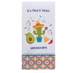 Guacamole Themed It's Five O'Guac Somewhare Dual Purpose Cotton Kitchen Dish Terry Towel from Kay Dee Designs