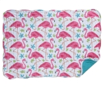 Pink Flamingo Themed Cotton Quilted Table Placemat 13x19 from Kay Dee Designs