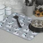 Dog Lover Kitchen Countertop Dish Drying Mat 16x20 from Kay Dee Designs