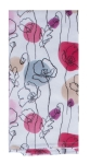 Think Pink Floral Print Design Dual Purpose Cotton Kitchen Dish Terry Towel 16x26 from Kay Dee Designs