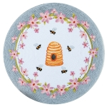 Bee Inspired Floral & Honeybee Design Cotton Braided Placemat 14.5 Inch from Kay Dee Designs