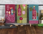 Set of 6 Wine Lover Themed Assorted Dual Purpose Cotton Kitchen Dish Terry Towels from Kay Dee Designs