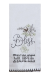 Cotton Willow Design Home Sweet Home Embroidered Flour Sack Dish Towel from Kay Dee Designs