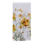 Forsythia Floral Bouquet Cotton Dual Purpose Kitchen Dish Terry Towel from Kay Dee Designs