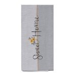 Flower Accent Sweet Home Cotton Kitchen Dish Tea Towel 18x28 from Kay Dee Designs