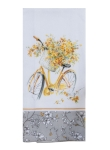 Floral Bicycle Themed Cotton Kitchen Dish Tea Towel from Kay Dee Designs