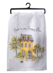 Home Is My Happy Place Cotton Flour Sack Kitchen Dish Towel from Kay Dee Designs