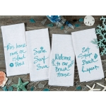 Set of 4 Golden Seas Beach Themed Assorted Glitter Dish Tea Towels from Kay Dee Designs