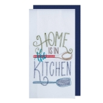 Home Is In The Kitchen Flour Sack & Solid Waffle Towel Set from Kay Dee Designs