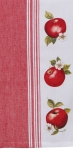 Red & White Apple Picking Jacquard Cotton Dish Tea Towel from Kay Dee Designs