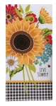 Colorful Sunflower Themed Live Simply Dual Purpose Cotton Dish Terry Towel 16x26 from Kay Dee Designs