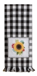 Sunflower Themed Simple Life Peaceful Mind Cotton Embroidered Dish Tea Towel 18x28 from Kay Dee Designs