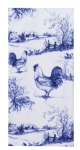Blue & White Rooster Themed Toile Dual Purpose Cotton Dish Terry Towel 16x26 from Kay Dee Designs