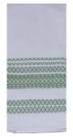 Green Tea Geometric Print Design Dual Purpose Cotton Kitchen Dish Terry Towel 16x26 from Kay Dee Designs