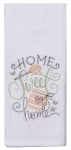 Honey Pot Design Home Sweet Home Embroidered Cotton Flour Sack Kitchen Dish Towel from Kay Dee Designs
