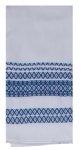 True Blue & White Geometric Print Design Dual Purpose Cotton Kitchen Dish Terry Towel 16x26 from Kay Dee Designs