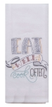 Eat Well Cook Often Cotton Embroidered Flour Sack Kitchen Dish Towel 26x26 from Kay Dee Designs