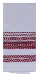 Samba Red & White Geometric Print Design Dual Purpose Cotton Kitchen Dish Terry Towel 16x26 from Kay Dee Designs