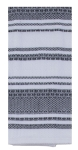 Black & White Geometric Stripes & Shapes Cotton Kitchen Dish Tea Towel 18x28 from Kay Dee Designs