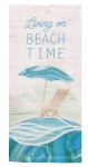 Coastal Tranquility Beach Time Umbrealla Cotton Dish Tea Towel 18x28 from Kay Dee Designs