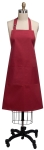 Solid Cardinal Red Cotton Kitchen Apron 26x34 from Kay Dee Designs