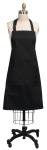 Solid Black Cotton Kitchen Apron 26x34 from Kay Dee Designs