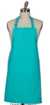 Solid Teal Colored Cotton Kitchen Apron 26x34 from Kay Dee Designs