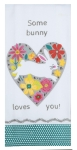 Hello Spring Some Bunny Loves You Cotton Dish Tea Towel 18x28 from Kay Dee Designs