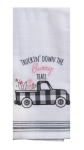 Farmhouse Truckin' Down The Bunny Trail Embroidered Cotton Kitchen Dish Tea Towel 18x28 from Kay Dee Designs