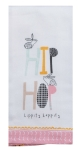 Bunny Rabbit Themed Hip Hop Hippity Happity Cotton Kitchen Dish Tea Towel 18x28 from Kay Dee Designs