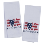 Patriotic Home of the Brave Towel Set from Kay Dee Designs