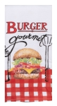BBQ Time Burger Gourmet Dual Purpose Cotton Kitchen Dish Terry Towel 16x26 from Kay Dee Designs