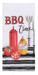 BBQ Time Ketchup & Mustard Dual Purpose Cotton Kitchen Dish Terry Towel 16x26 from Kay Dee Designs