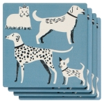Set of 4 Dog Lover Super Aborbent Ceramic Drink Coasters from Now Designs
