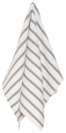London Gray & White Striped Basketweave Cotton Dish Towel 25x16 from Now Designs