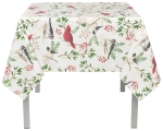 Winter Birds Decorative Cotton Tablecloth 60 x 60 inch from Now Designs