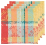 Prisma Colorful Jacquard Cotton Table Napkins Set of 4 (20 Inch x 20 Inch) from Now Designs