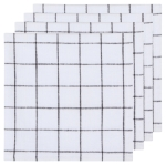 Vintage Wash Black & White Checkered Cotton Table Napkins Set of 4 (19 Inch x 19 Inch) from Now Designs