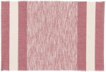 Twisted Yarn Garnet Red & Cream Cotton Table Placemat (13 Inch x 19 Inch) from Now Designs