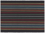 Multicolor Stripes Ridge Cotton Table Placemat Black (14 Inch x 19 Inch) from Now Designs