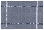 Tangier Knotted Blue Woven Cotton Table Placemat (13 Inch x 19 Inch) from Now Designs