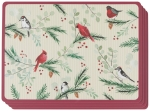 Forest Birds Hardboard Cork-Backed Table Placemats Set of 4 from Now Designs