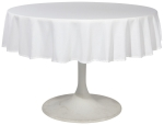 White Renew Tablecloth 60 inch round from Now Designs