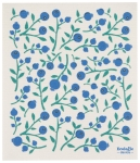 Blueberries Print Design Ecologie Swedish Sponge Towel 11.75 Inch x 10 Inch from Now Designs