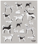 Dog Lover Print Design Ecologie Swedish Sponge Towel 11.75 Inch x 10 Inch from Now Designs